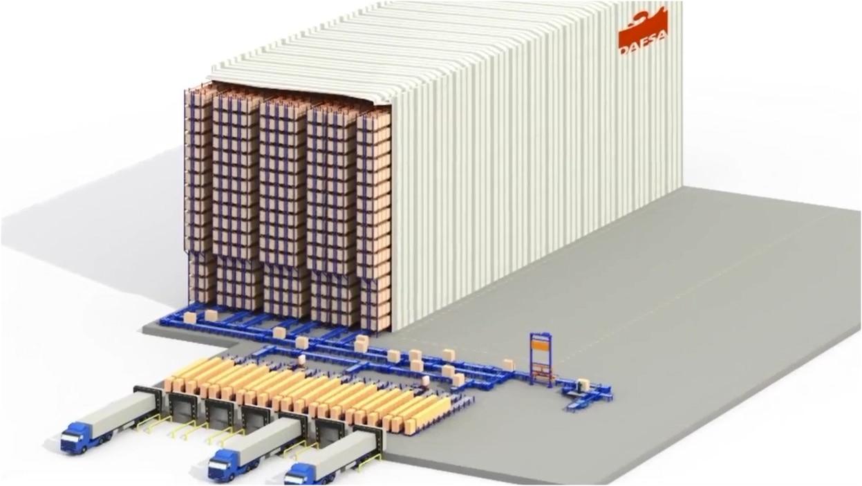Stockage automatisé pour palettes : Dafsa