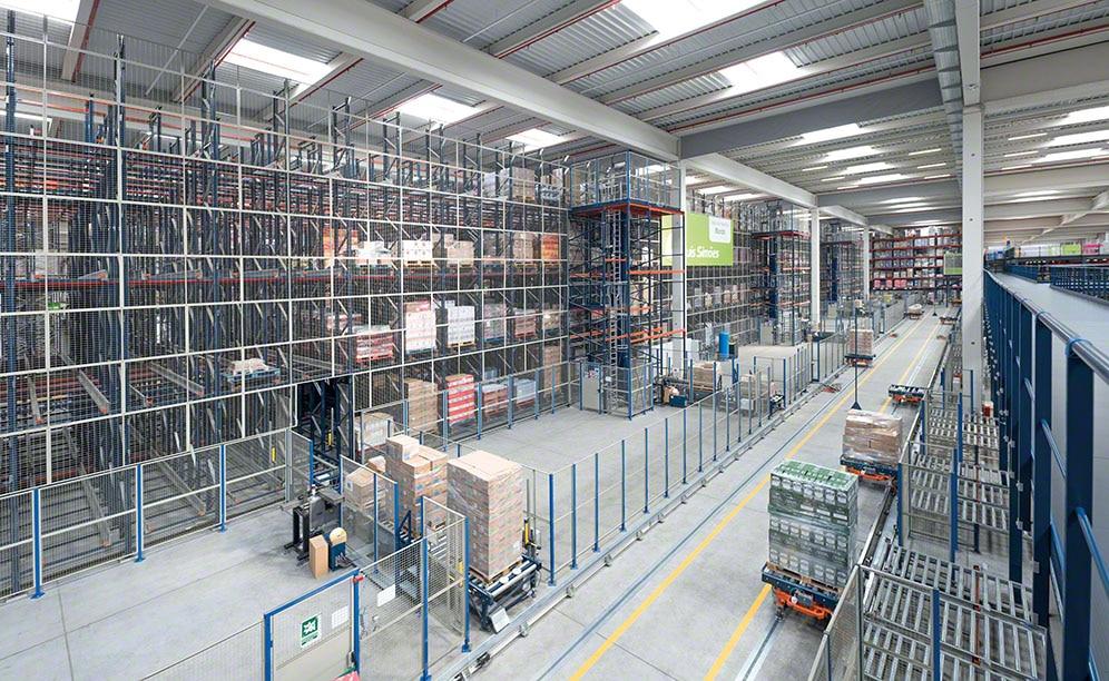Capacité, séquencement et haute disponibilité dans le centre logistique de Luís Simões
